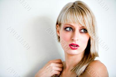 Paris Hilton look-a-like looking surpirised