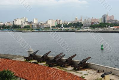 Cannons protecting Havana Bay