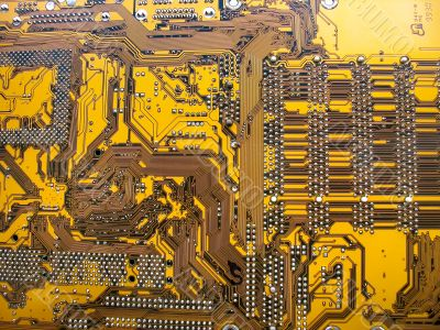 Computer motherboard electronic circuit macro surface texture