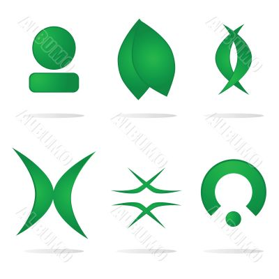 Abstract logo components