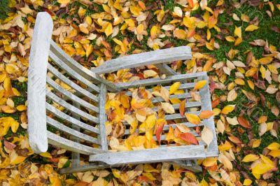 deckchair in autumn