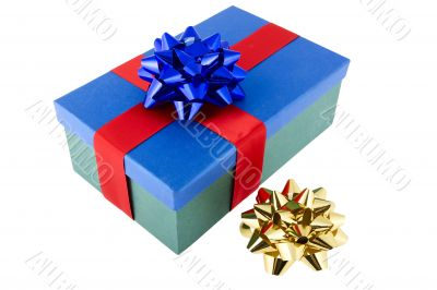 Present packed with bow