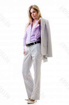 Business woman in pant suit