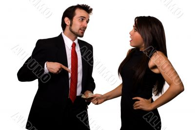 Arguing over money