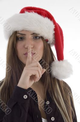 girl asking to keep silent