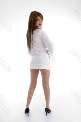 back pose of sensual woman