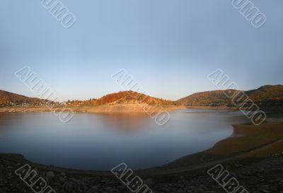 Reservoir Edersee in Germany