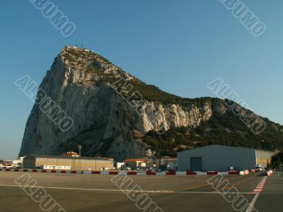 Rock of Gibraltar, seen from the Airfield