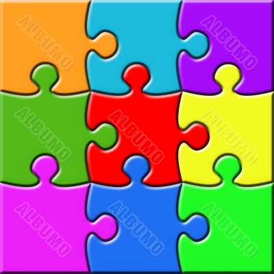 Colorful 3x3 Puzzle