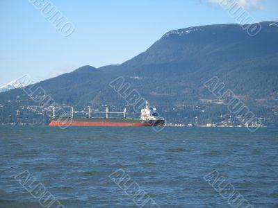 large tanker on the ocean