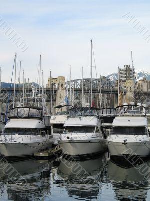 boats parked at a marina