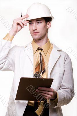 Male science engineer