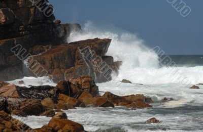 High wave at Cape of Good Hope