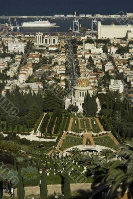 The bahai temple in Haifa, Israel