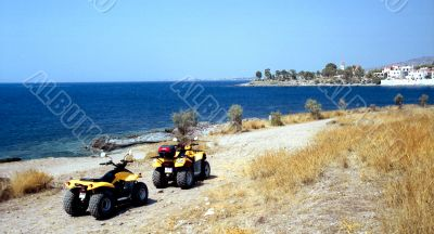Quadracycles on the shore