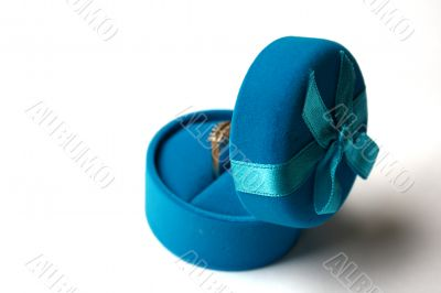 The open dark blue round box