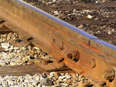 Close-up of rails