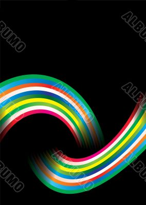 rainbow over