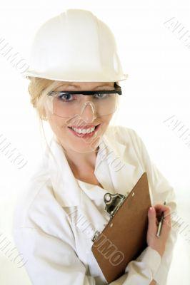 Lady science engineer