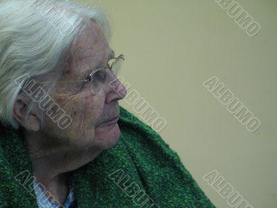 white hair grandmother