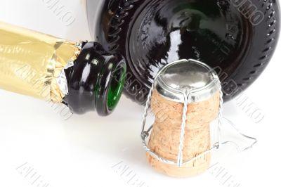 Empty Champagne Bottles
