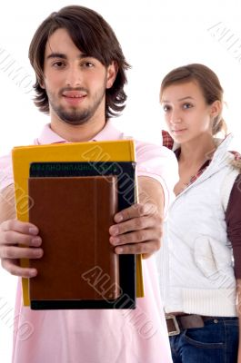 young college students with books