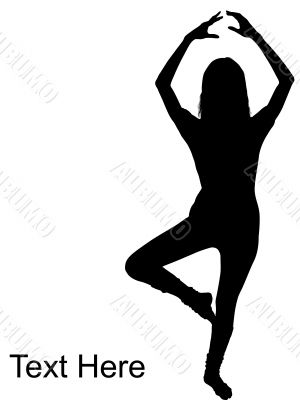 woman doing dance step