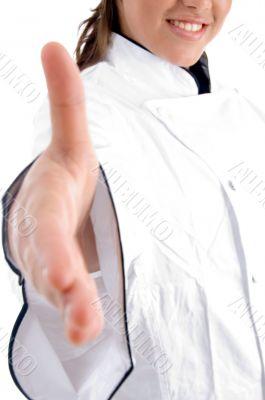 chef offering hand shake