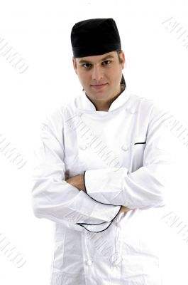 portrait of chef posing in uniform