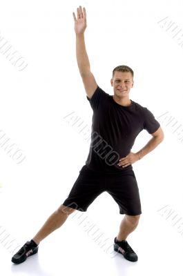 exercising young man