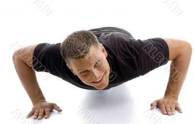 male doing push ups