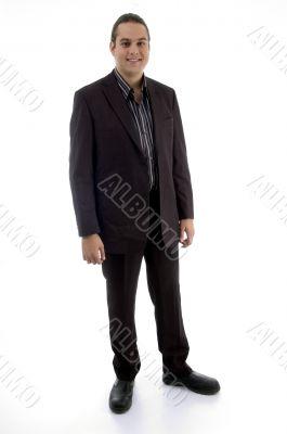 standing adult businessman