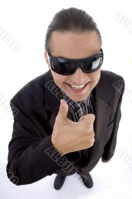 service provider wearing eyeglasses