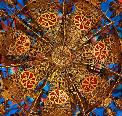 Beautiful Ornamented Chandelier