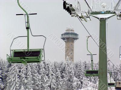 Ettelsberg in Willingen, Upland, with ski lift