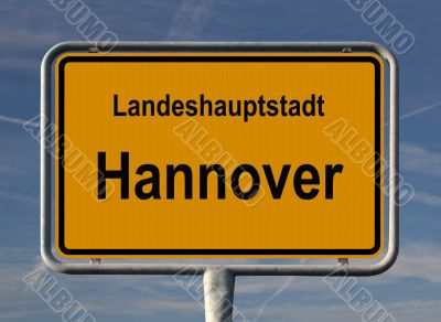 General city entry sign of Hannover