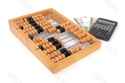 Abacus. Financial concept