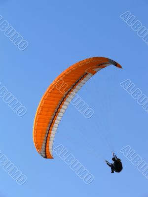 Paraglide on a clear sky