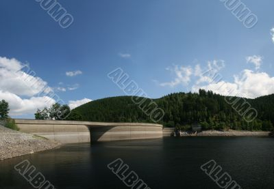 dam of the reservoir Okersee