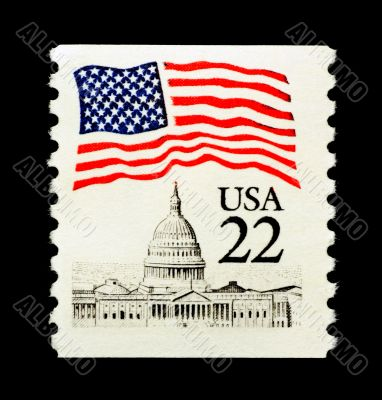 Patriotic USA Stamp