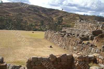 Inca castle ruins in Chinchero