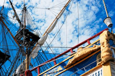 Sailing vessel and the sky