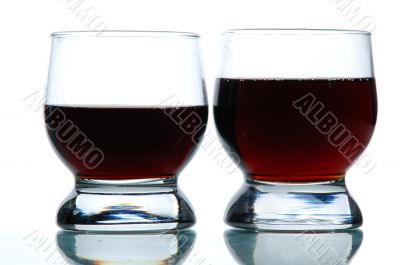 Two Glasses filled with some alcohol