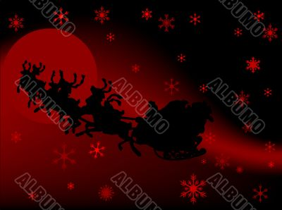 Background with Santa