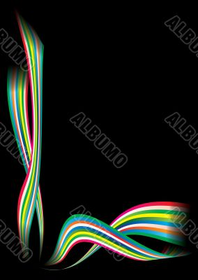 rainbow modern corner