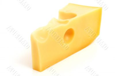 fresh and tasty slice of cheese