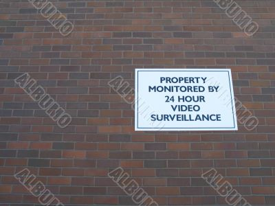 property monitored sign