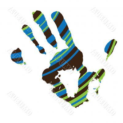 stripe hand