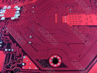 close-up of Computer Circuit Board abstract pattern