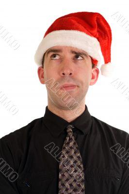 Puzzled Christmas Employee